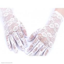 Перчатки Гипюр Мини (кисть) 21см белые