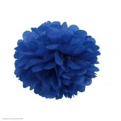 Помпон бумажный 20см синий тёмный