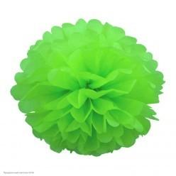 Помпон бумажный 25см зелёный