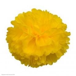 Помпон бумажный 30см жёлтый