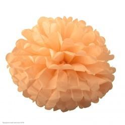 Помпон бумажный 30см персиковый