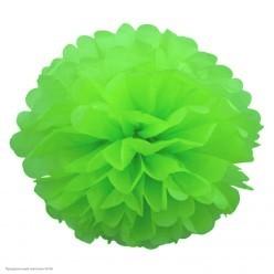 Помпон бумажный 30см зелёный