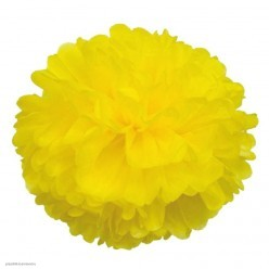 Помпон бумажный 35см жёлтый