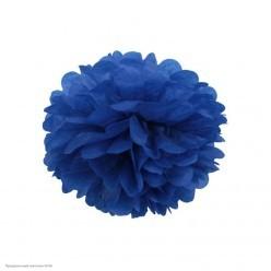 Помпон бумажный 15см синий тёмный