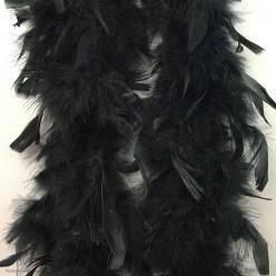 Боа (перья) большое 1,8 м чёрное