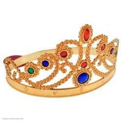 Корона королевская золотая (пластик) 59*11,5см