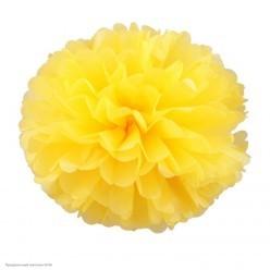 Помпон бумажный 25см жёлтый