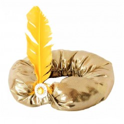 Чалма блестящая золотая