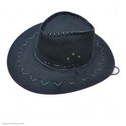 Шляпа Ковбоя чёрная (под замшу)