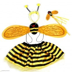 Набор Пчёлки 4 в 1 (юбка, крылья 70*16см, ободок, палочка)