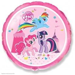 "Шар фольга Круг ""My Little Pony"" Цирк 18""/45см"