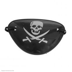 Повязка пирата на глаз с рисунком (пластик)