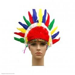 Индейский головной убор 55*30см (перья, картон)
