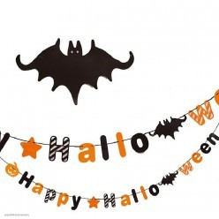 """Гирлянда Буквы на ленте """"Happy Halloween"""" 4,0м (бумага)"""