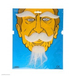Набор: борода, усы и брови (белый)