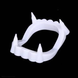 Зубы Дракулы белые 5*4см (пластик)