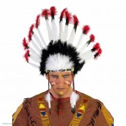 Индейский головной убор 37*57см(картон, перья)