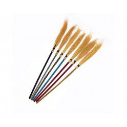 Метла Ведьмы/Бабы Яги, цветная ручка 100см