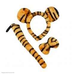 Набор Тигра (ушки, бабочка, хвост), плюш
