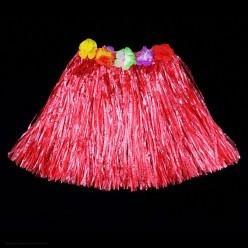 Юбка гавайская 40 см (красная)