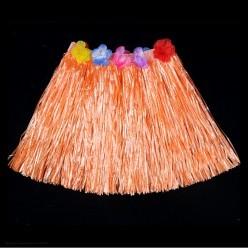 Юбка гавайская 40см (оранжевая)