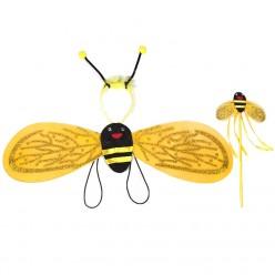 Набор Пчёлки 3 в 1 (крылья 70*16см, ободок, палочка)
