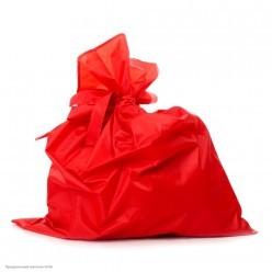 Мешок Деда Мороза красный (сатин)