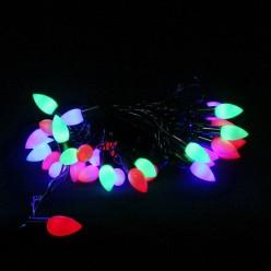 Электрогирлянда LED Нить 40ламп 6м мультицветная