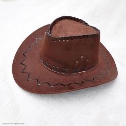 Шляпа Ковбоя детская (под замшу) цвет горький шоколад