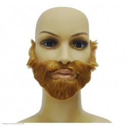 Борода Рыжая с усами и бакенбардами 14*18,5см (клеевая)