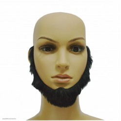 Борода Чёрная окаймляющая 14*19см (клеевая)