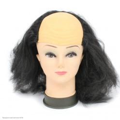 """Парик """"Лысина с волосами"""" (чёрный)"""