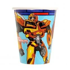 """Стаканы """"Трансформеры Prime"""" 250мл 8шт, бумага"""