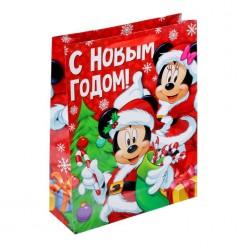 """Пакет подарочный L 31*40*9см Микки Маус """"Яркого праздника!"""""""