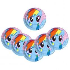 """Тарелки """"My Little Pony"""" 23см 8шт/уп, бумага"""