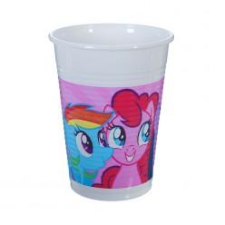 "Стаканы ""My Little Pony"" 200 мл, 8 шт, пластик"