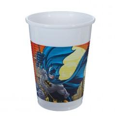 "Стаканы ""Бэтмен"" 200мл 8шт, пластик"