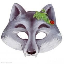 Маска Волк (картон) 21,6*19,5см