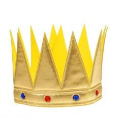 Корона царская золотая со стразами (мягкая) 55*11см
