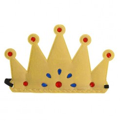 Корона царская на резинке (мягкая) 23*14см