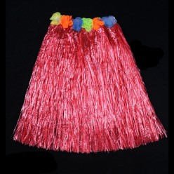 Юбка гавайская 60см (красная)