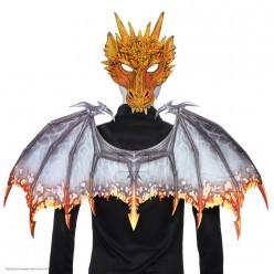Набор дракона  (крылья, маска) золото/серебро