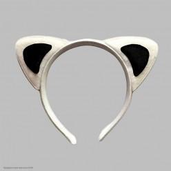 Ободок Уши Кошки (бело-чёрные)