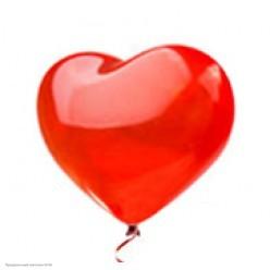 """Шар Сердце без рисунка Красный 24""""/61см"""
