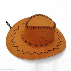 Шляпа Ковбоя детская (под замшу) коричневая