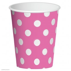 """Стаканы """"Горошек розовый"""" 250мл 6шт, бумага"""