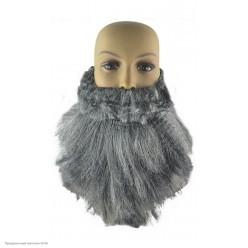 Борода седая пышная с усами 25*30см