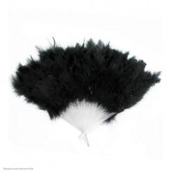 Веер перьевой (чёрный) 40*25см