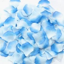 Лепестки роз (300шт) бело-голубые