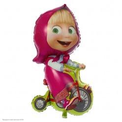 Шар фольга Маша на велосипеде 99см